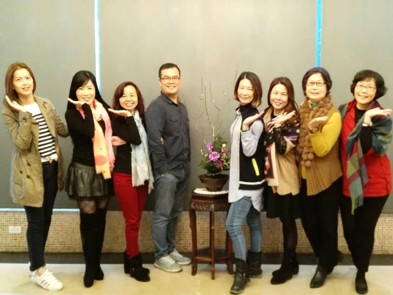 奇美國際商務旅館舉辦插花班與學員花藝交流